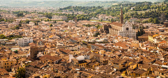 Florence panoramic view stock photography