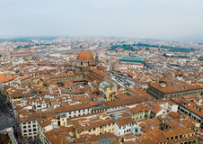Florence panoramic view and The Basilica di San Lorenzo in the d Royalty Free Stock Photo