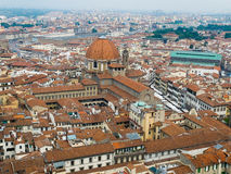 Florence panoramic view and The Basilica di San Lorenzo in the d Stock Photos