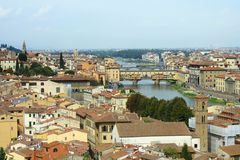 Florence, panoramic view of the city Stock Photography
