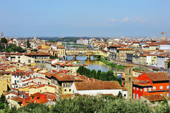 Florence and panoramic view, Firenze, Tuscany, Italy Stock Photo