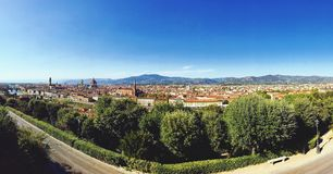 Florence. Panoramic view from Piazzale Michaelangelo Royalty Free Stock Photos