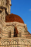 Florence, particular of the cathedral Sant Maria of Fiower stock photo