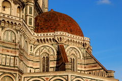 Florence, particular of the cathedral Sant Maria of Fiower stock image