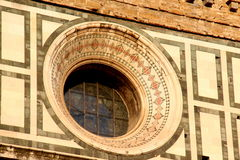 Florence, particular of the cathedral Sant Maria of Fiower stock photography