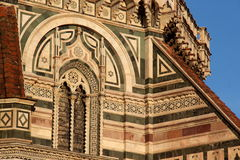 Florence, particular of the cathedral Sant Maria of Fiower Stock Images