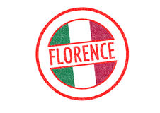 FLORENCE. Passport-style FLORENCE rubber stamp over a white background Stock Photography