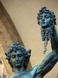 Florence - Perseus holding the head of Medusa. By Cellini. Benvenuto Cellini Perseus holding the head of Medusa One of the most famous statue in the world Royalty Free Stock Photography