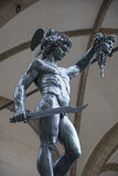 Florence Perseus. The sculpture of Perseus in Florence Stock Photography