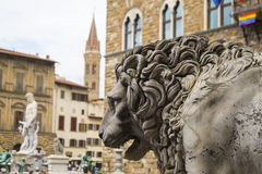 Florence - Piazza dei Signori. Tha main square in city Stock Photography