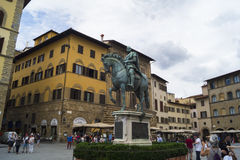 Florence - Piazza dei Signori. Tha main square in city Royalty Free Stock Photo