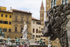 Florence - Piazza dei Signori. Tha main square in city Royalty Free Stock Image