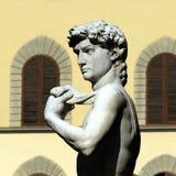 Florence - Piazza della Signoria. A side portrait of Michangelo's David in Piazza della Signoria stock photo