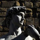 Florence - Piazza della Signoria. The beautifully highlighted profile of Michelangelo's David in Piazza della Signoria Royalty Free Stock Image