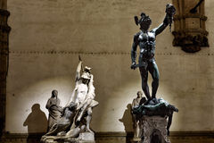 Florence Piazza della Signoria IV. Florence My city My love Stock Photography