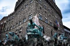 Florence Piazza della Signoria IX. Florence My city My love Stock Photos