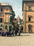 Florence Piazza. Piazza in Florence, Italy royalty free stock photo