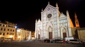 Florence Piazza Santa Croce Royalty-vrije Stock Afbeeldingen