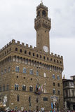 Florence - piazzadeiSignori Arkivbilder