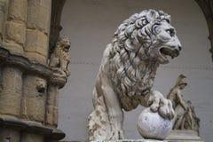 Florence - piazzadeiSignori Royaltyfria Bilder