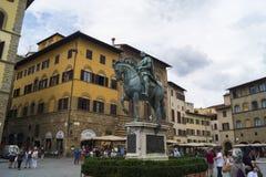 Florence - piazzadeiSignori Royaltyfri Foto