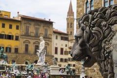 Florence - piazzadeiSignori Royaltyfri Bild