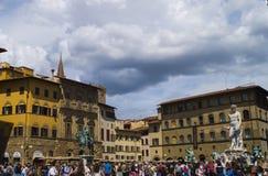 Florence - piazzadeiSignori Fotografering för Bildbyråer