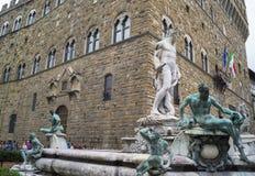 Florence - piazzadeiSignori Arkivbild