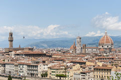 Florence from Piazzale Michelangelo, Italy Royalty Free Stock Photos