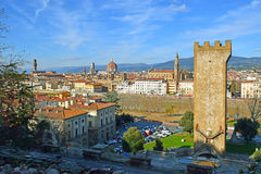 Florence with Piazzale Michelangelo, Tuscany, Italy Stock Photo