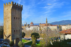 Florence with Piazzale Michelangelo, Tuscany, Italy Stock Images