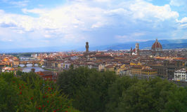 Florence from Piazzale Michelangelo Royalty Free Stock Photography