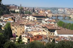 Florence from Piazzale Michelangelo viewpoint Stock Images
