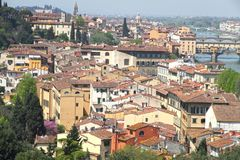 Florence from Piazzale Michelangelo viewpoint Stock Image