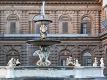 Florence Pitti Palace Fountain Royalty Free Stock Photos