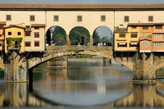 Florence. pont Ponte Vecchio. Summer in Italy. Florence. pont Ponte Vecchio Stock Photography