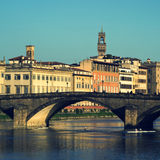 Florence. Ponte alla Carraia, Bridge on the Arno river, Florence Stock Photos