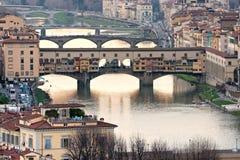 florence ponte Tuscany vecchio obrazy stock
