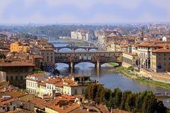 Florence Ponte Vecchio Stock Photo