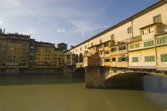 Florence, Ponte Vecchio. A suggestive early morning view of Florence, Ponte Vecchio stock photography
