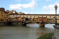 Florence. The Ponte Vecchio. The bridge   The Ponte Vecchio over Arno. Florence,  2006 Stock Image