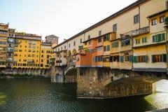 Florence Ponte Vecchio Arkivfoton