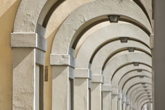 Florence Ponte Vecchio arches way Royalty Free Stock Photography