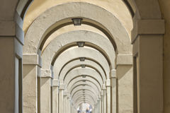 Florence Ponte Vecchio arches way Royalty Free Stock Image