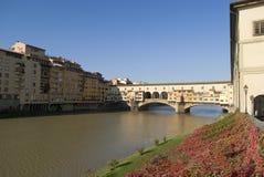 Florence. The Ponte Vecchio Bridge Stock Photo