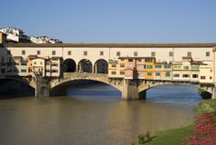 Florence. The Ponte Vecchio Bridge. Florence. Ponte Vecchio Bridge over the Arno River Stock Photography