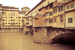 Florence Ponte Vecchio bridge Royalty Free Stock Photo