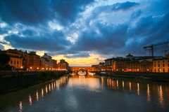 Florence and Ponte Vecchio Stock Photo