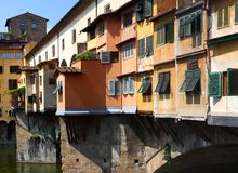 Florence, Ponte Vecchio, Italy Stock Images