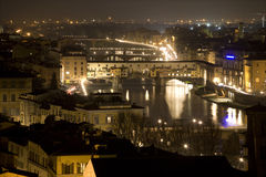 Florence - Ponte Vecchio in the night Stock Photos